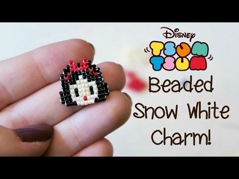 DIY Bead Tsum Tsum Snow White Charm. Bead Weaving. ¦ The Corner of Craft