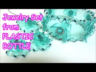 DIY Crafts: Bracelets Earrings Pendant from Plastic Bottle Recycled Bottles Crafts