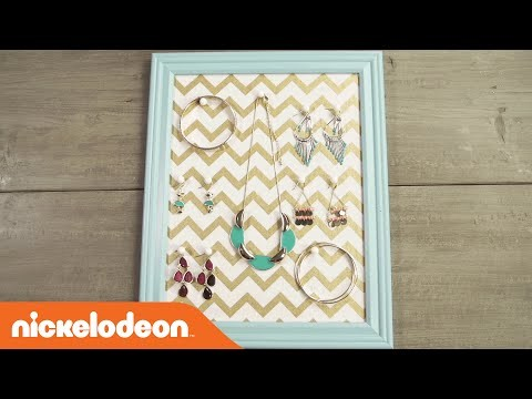 DIY Crafts | TeenNick Picture Frame Jewelry Board | Nick