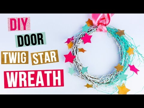 DIY Door Twig Star Wreath