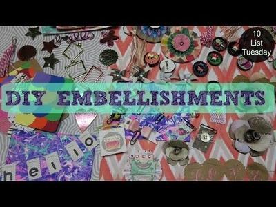 DIY Embellishments & Ephemera. 10 List Tuesday | I'm A Cool Mom