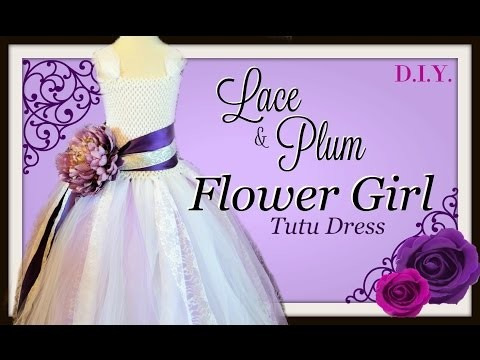 DIY Flower Girl Tutu Dress with Lace