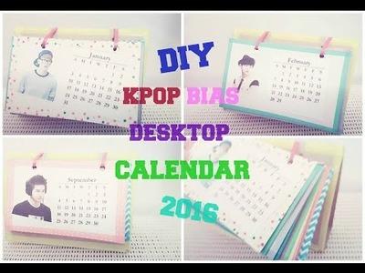 DIY KPOP Bias Desktop Calendar ♡ 2016