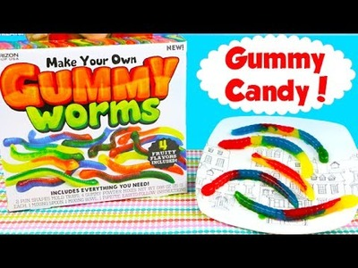 DIY Make Your Own GUMMY Worms Candy Maker Set! How to Make Gummy Worms