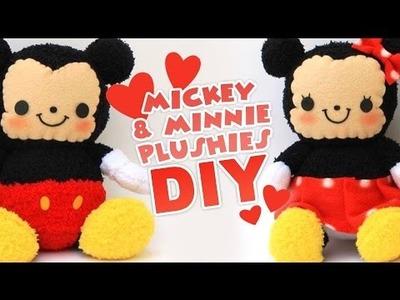 DIY Mickey & Minnie Sock Plushes | Valentine's Collab