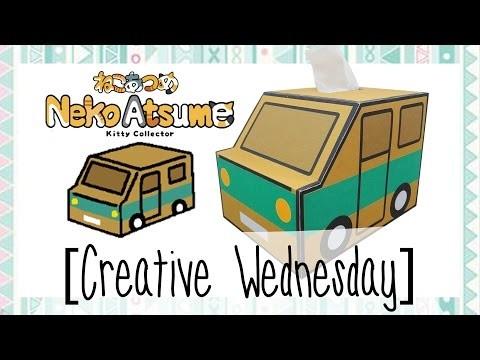 "DIY NEKO ATSUME ""CARDBOARD TRUCK"" TISSUE BOX HOLDER.GIFT BOX! [CREATIVE WEDNESDAY]"