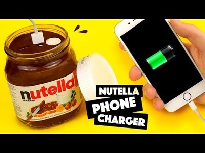 DIY   NUTELLA PHONE CHARGER - Tutorial!