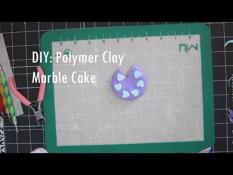 DIY: Polymer Clay Marble Cake