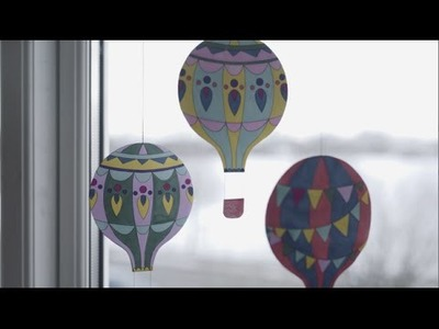 DIY: Printable hot air balloons by Søstrene Grene