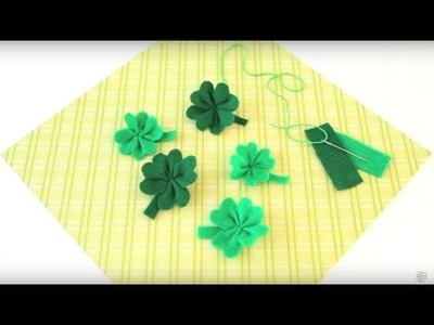 DIY St. Patrick's Day: Felt Four Leaf Clovers
