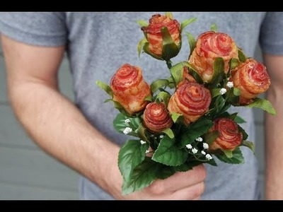 DIY tutorial: how to make bacon roses!