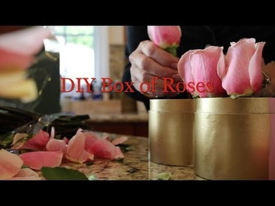 DIY Valentine's Day Box of Roses