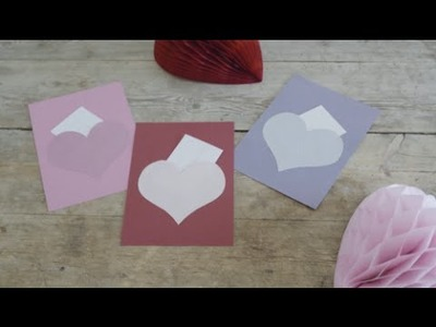 DIY: Valentine's Day cards by Søstrene Grene