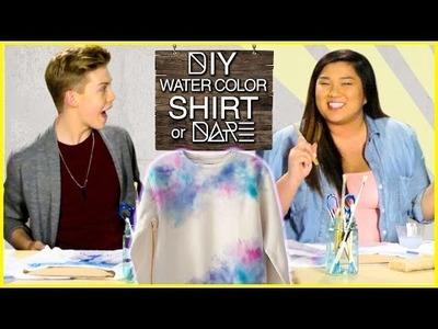 DIY Watercolor Shirt?! | DI-Dare w. MissRemiAshten & Aidan Alexander