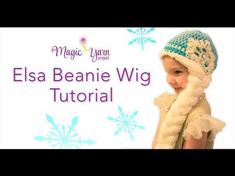 Elsa Beanie Wig Tutorial DIY