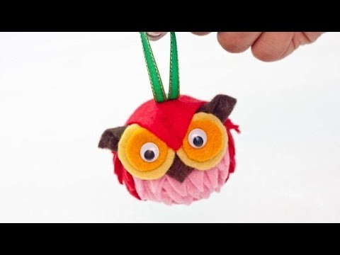 How To Create An Adorable Owl Ball Ornament - DIY Crafts Tutorial - Guidecentral