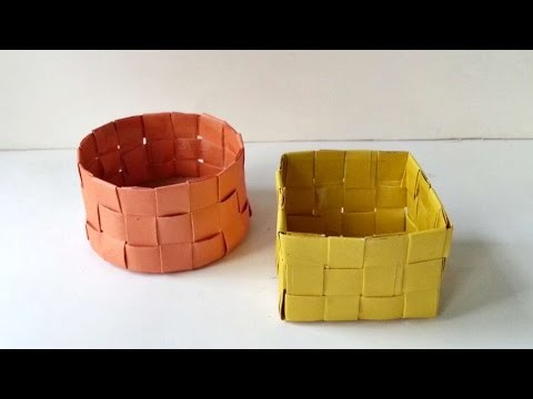 How To Create Little Round Paper Basket - DIY Crafts Tutorial - Guidecentral