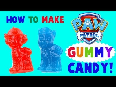 How to Make Paw Patrol Gummy Candy! DIY Easy Tutorial