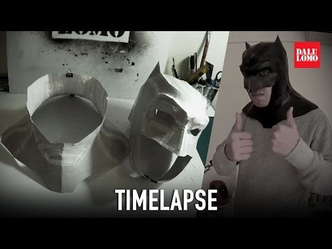 Timelapse - Making BvS Batman Mask | Costume Prop | Dali DIY