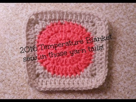 2016 Temperature Blanket - Sew in Tails | Allison Rae Crochet