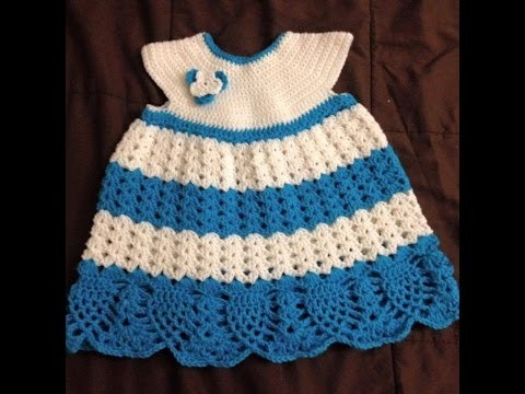 Baby dress - Skirt crochet tutorial Tamil.English