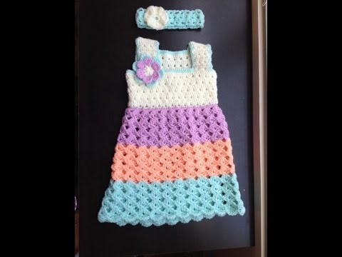 Baby dress - standard bodice crochet tutorial in Tamil.English