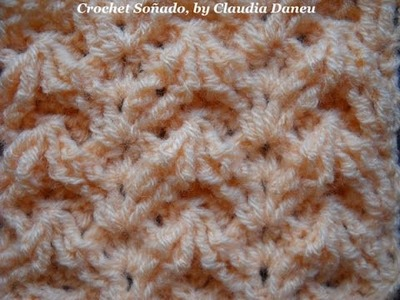 CROCHET DIVERTIMENTO with frontpost & backpost stitches.  con realce derecho y revés