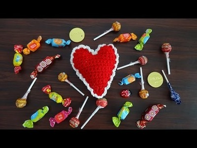 Crochet Heart Pin Cushion or Decoration - Valentine Crochet Tutorial