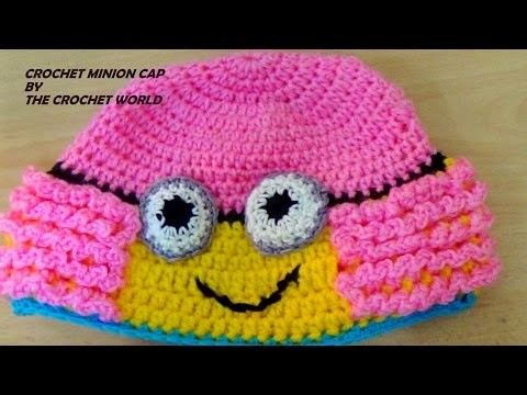 CROCHET MINION CAP FOR GIRLS (PART-1)