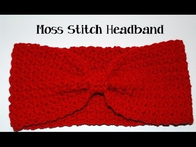 Crochet Moss Stitch Headband Tutorial