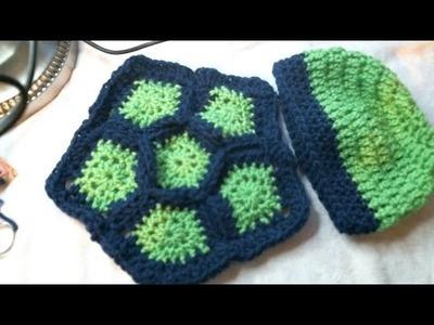 Crochet Turtle Photo Prop set 0-3months