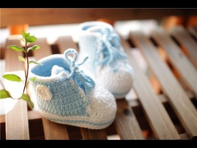 Crochet Tutorial - Easy Crochet Baby Booties - Shoes.Booties.Slippers Crochet
