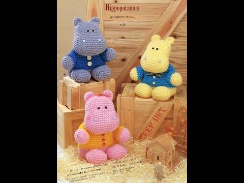 Crochet Tutorial - How to crochet Hippopotamus - Amigurumi