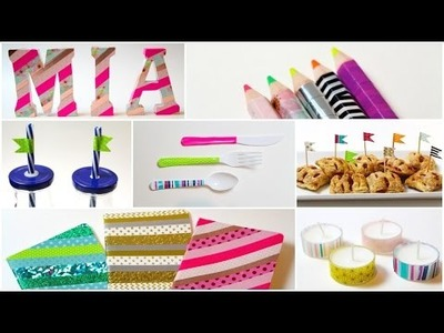 DIY- 15 FORMAS DE DECORAR CON WASHI TAPE