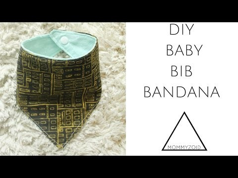 DIY BABY BIB BANDANA   MOMMYZOID