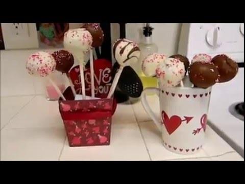 DIY Cake pop Valentine's day gift idea