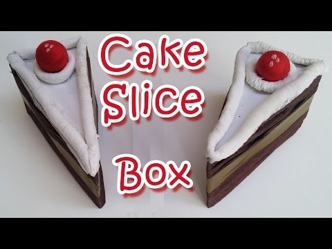 DIY crafts : Cake Slice Favor Box -  Ana | DIY Crafts