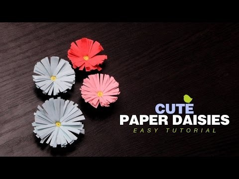 DIY Crafts: How to make Paper Daisies | Easy Paper Flowers Tutorial for Kids