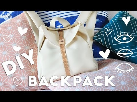 DIY Pleather Backpack For School From Scratch!