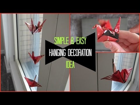 DIY Room Decor | Swan Origami Ceiling Decorations