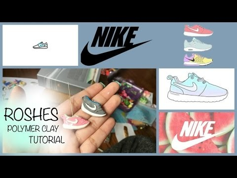 DIY Roshes Sneaker Charm | Polymer Clay Tutorial
