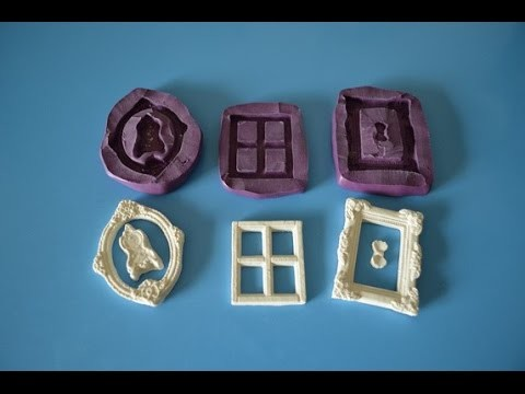 DIY Silicone Putty Mini Frame Molds for Polymer Clay from Ivanka's little treasures