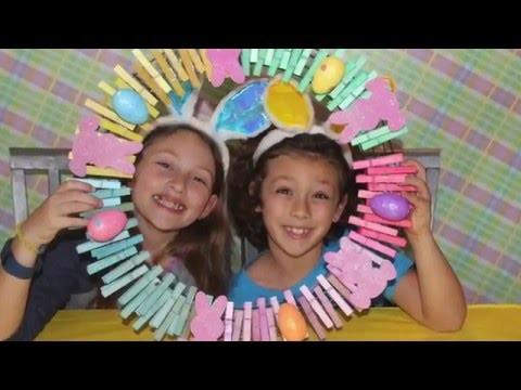 DIY Spring Easter Clothespin Wreath Tutorial