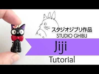 DIY Studio Ghibli Jiji Cat Charm  Polymer Clay  Tutorial [COLLAB] w. BerryWhimsy