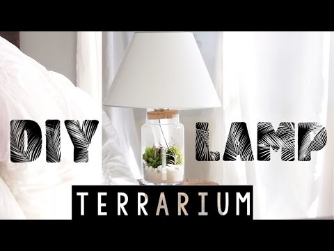 Easy DIY Terrarium Lamp | Spring Room Decor!
