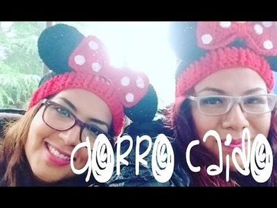 Gorro Caido Minnie Mouse. Slouch Hat Crochet Minnie Mouse