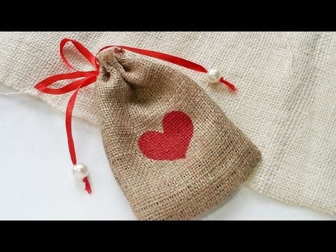 How To Create A Nice Burlap Gift Pouch - DIY Crafts Tutorial - Guidecentral