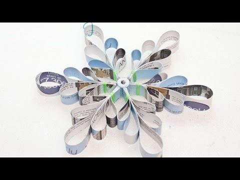 How To Create An Upcycled Paper Snowflakes - DIY Crafts Tutorial - Guidecentral