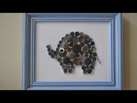 How To Create Button And Bead Elephant Nursery Wall Art - DIY Crafts Tutorial - Guidecentral