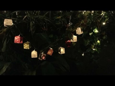 How To Create Origami Balloon Lights For Christmas - DIY Crafts Tutorial - Guidecentral